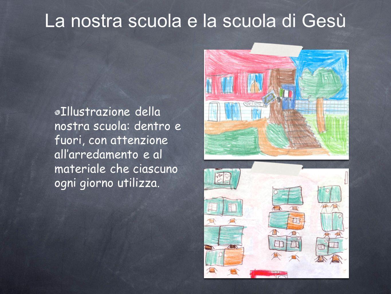 La nostra scuola e la scuola di Gesù Illustrazione della nostra scuola: dentro e fuori, con attenzione allarredamento e al materiale che ciascuno ogni