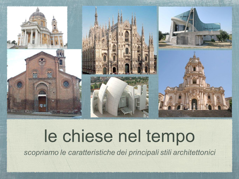 le chiese nel tempo scopriamo le caratteristiche dei principali stili architettonici