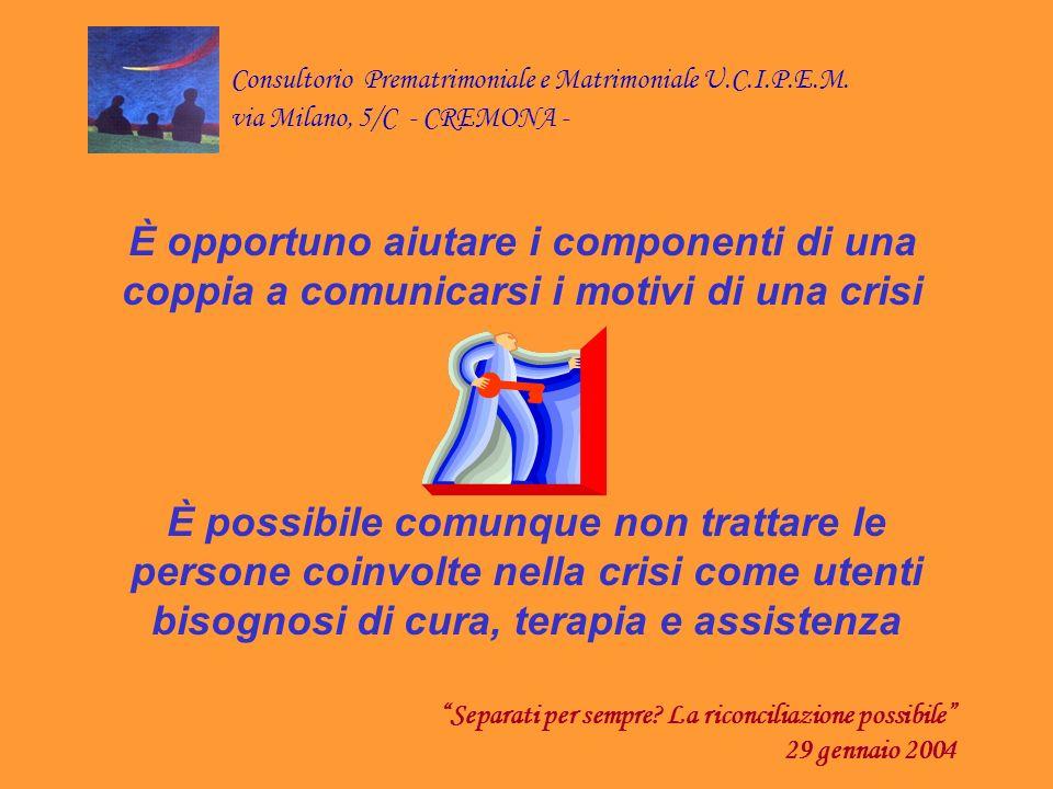 Consultorio Prematrimoniale e Matrimoniale U.C.I.P.E.M.