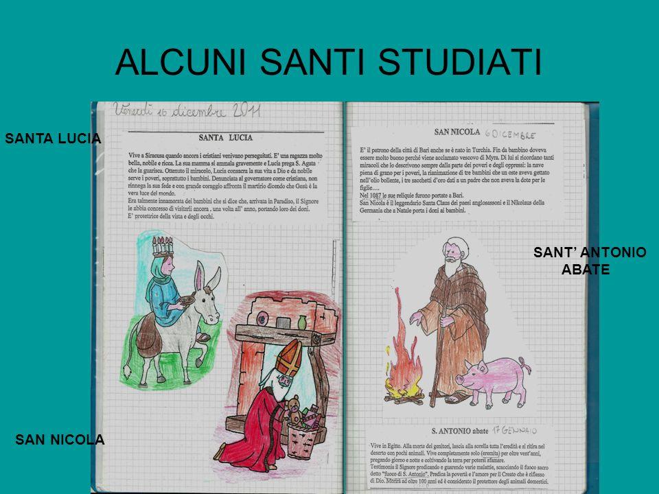 ALCUNI SANTI STUDIATI SANTA LUCIA SAN NICOLA SANT ANTONIO ABATE