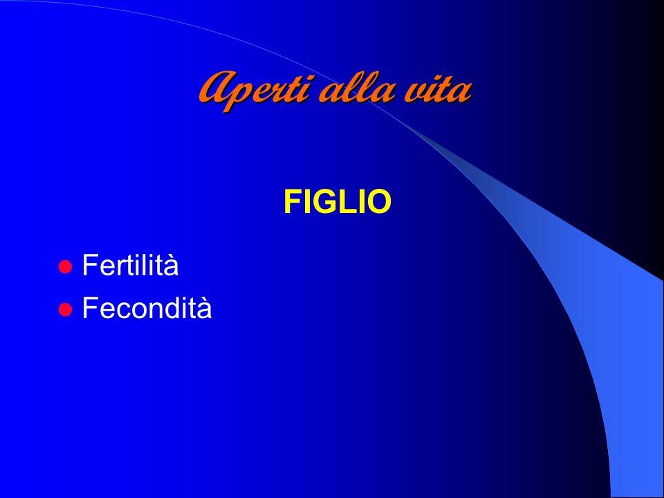 Aperti alla vita FIGLIO Fertilità Fecondità