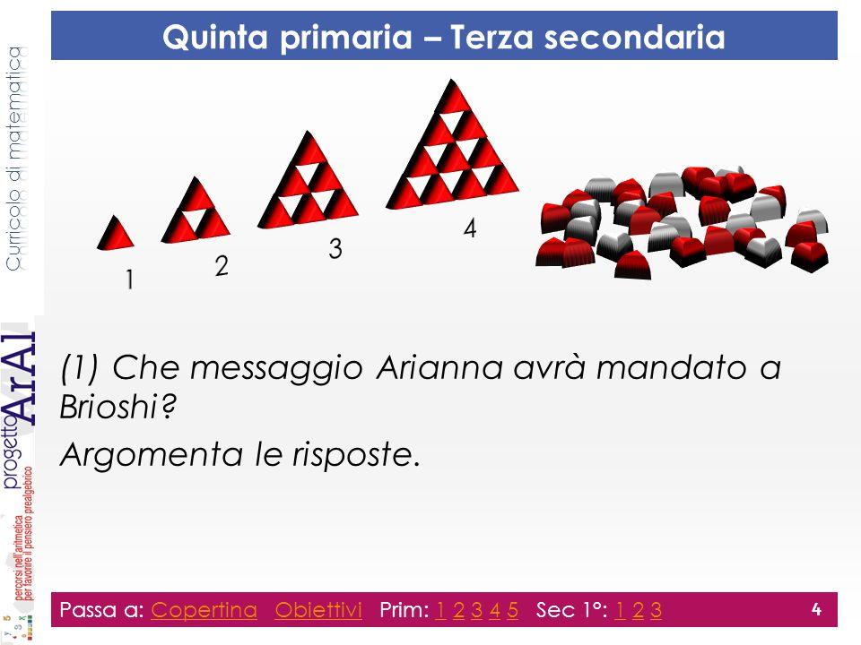 (1) Che messaggio Arianna avrà mandato a Brioshi. Argomenta le risposte.