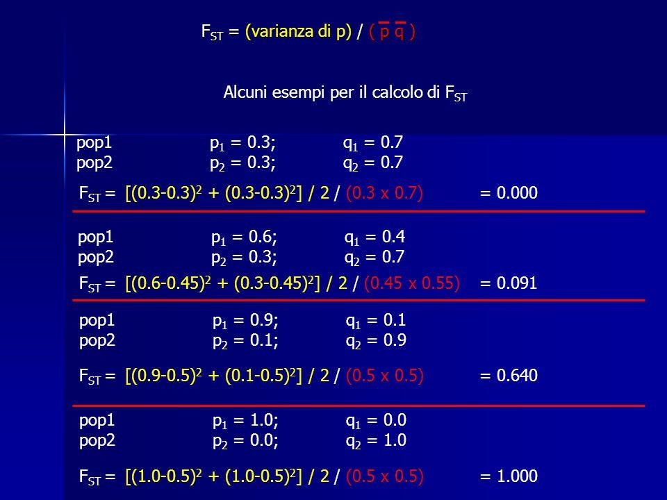 pop1 p 1 = 0.6; q 1 = 0.4 pop2p 2 = 0.3;q 2 = 0.7 pop1 p 1 = 0.9; q 1 = 0.1 pop2p 2 = 0.1;q 2 = 0.9 pop1 p 1 = 1.0; q 1 = 0.0 pop2p 2 = 0.0;q 2 = 1.0