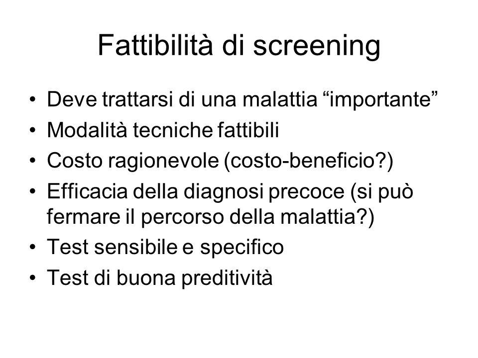 Come stabilire priorità in screening .