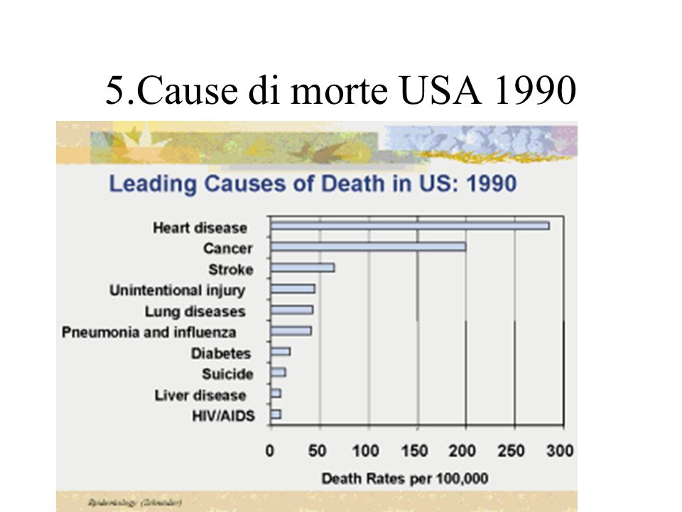 5.Cause di morte USA 1990