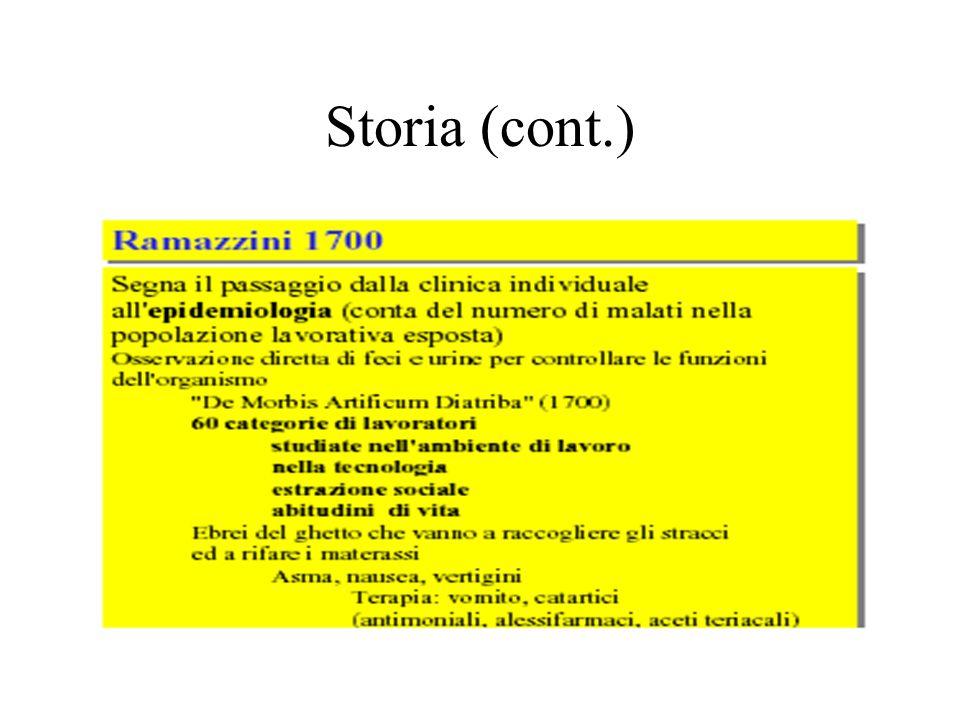 Storia (cont.)