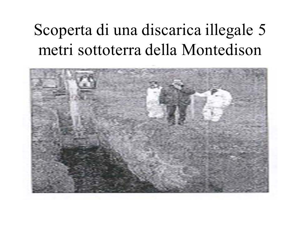 Scoperta di una discarica illegale 5 metri sottoterra della Montedison