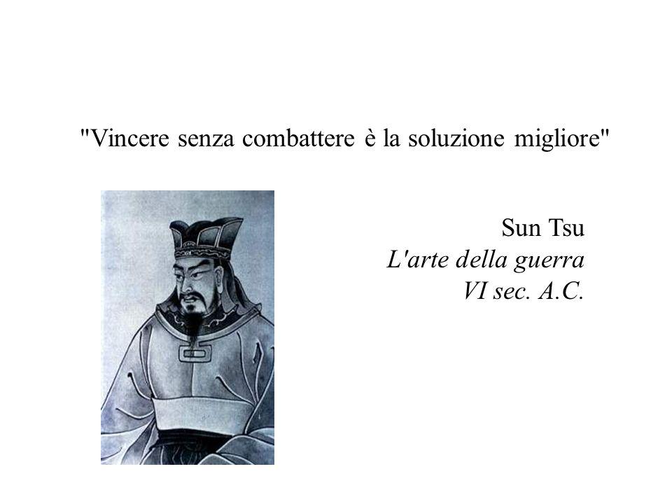 Vincere senza combattere è la soluzione migliore Sun Tsu L arte della guerra VI sec. A.C.