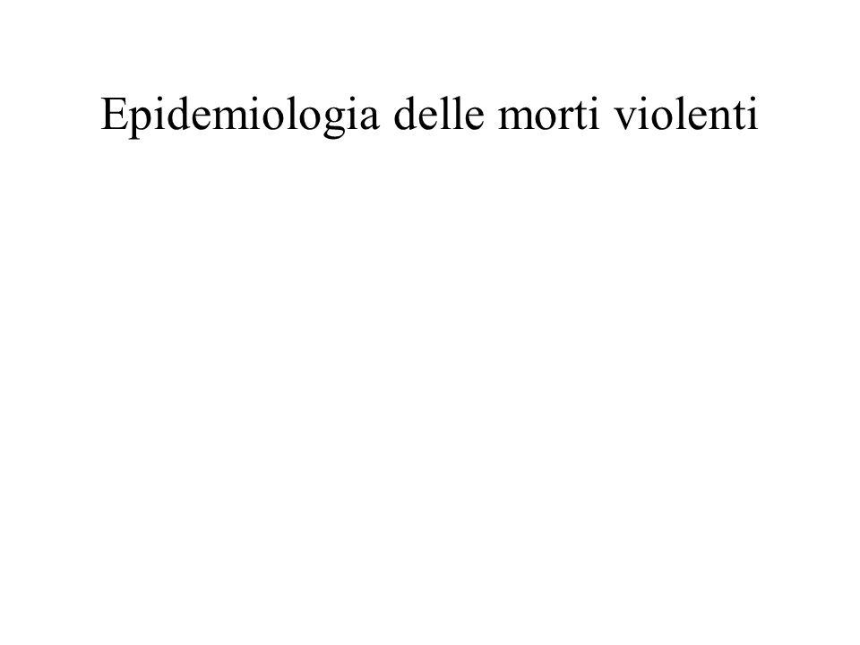 Epidemiologia delle morti violenti