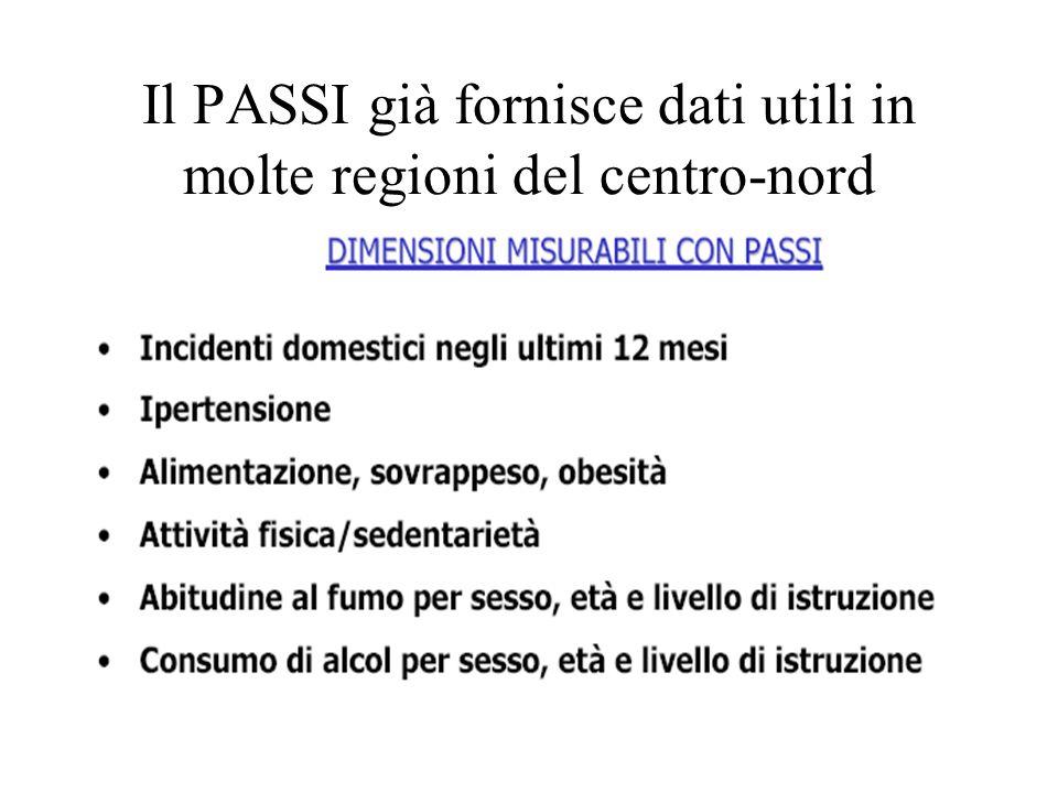 Il PASSI già fornisce dati utili in molte regioni del centro-nord