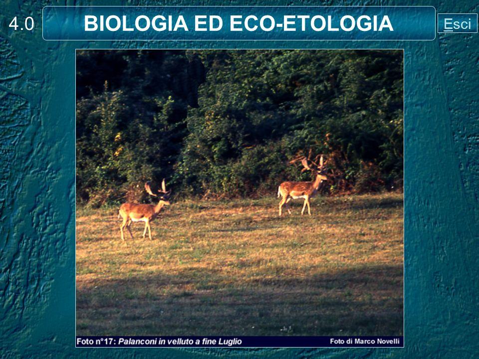 4.0 BIOLOGIA ED ECO-ETOLOGIA Esci
