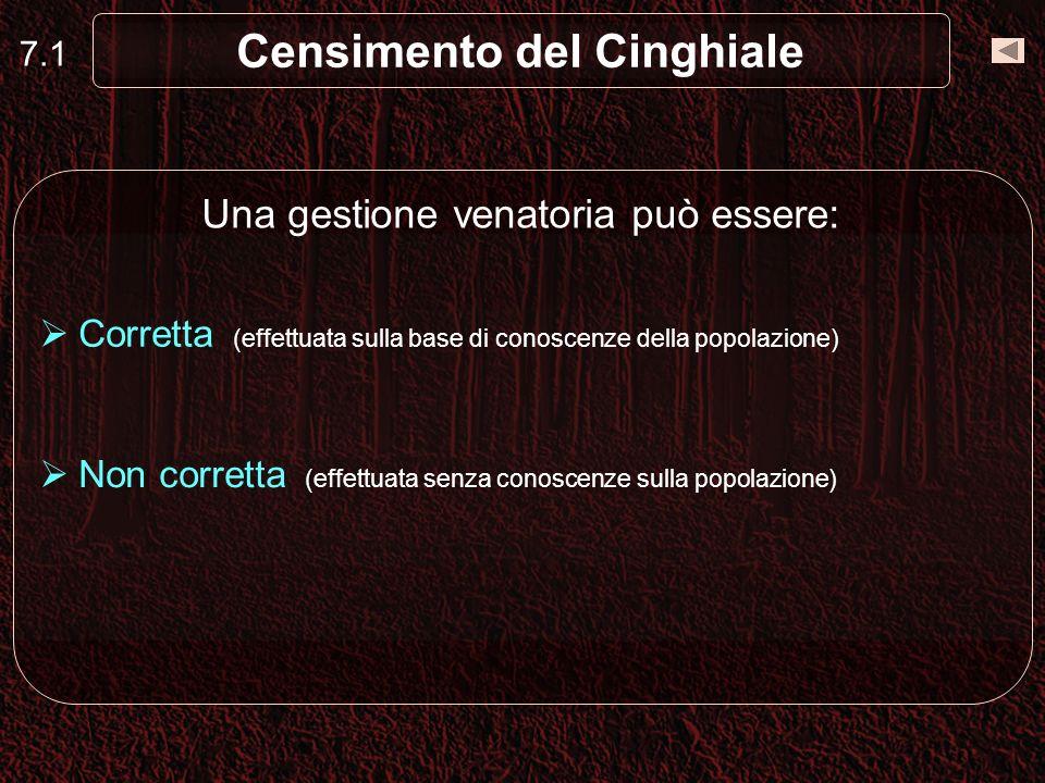 Censimento del Cinghiale Censimento completo o esaustivo (es.
