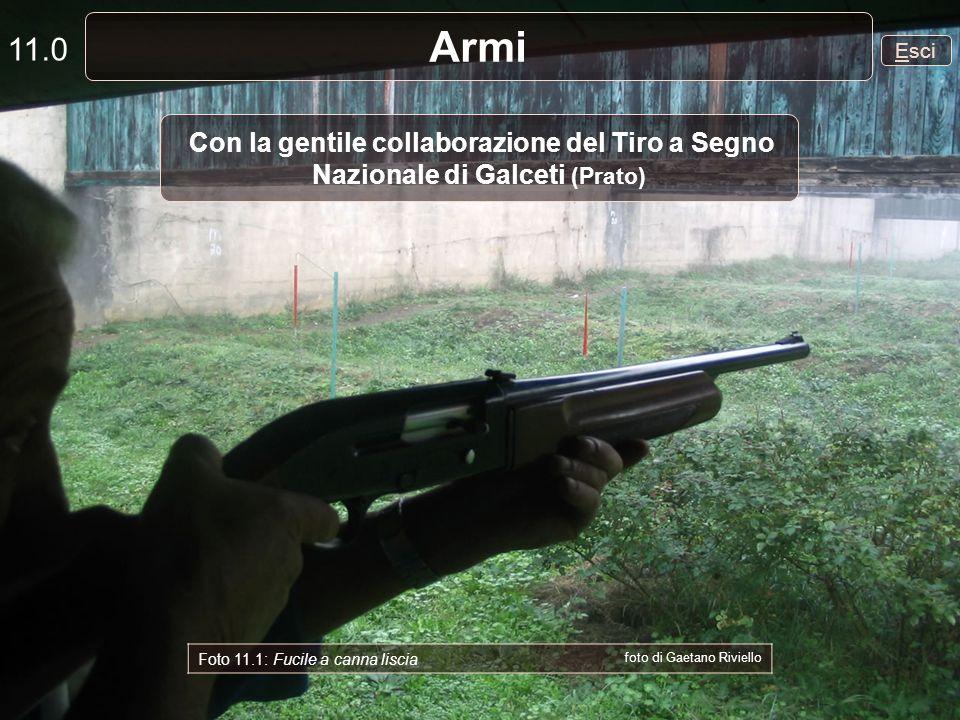 Esci Armi 11.0 Con la gentile collaborazione del Tiro a Segno Nazionale di Galceti (Prato) Foto 11.1: Fucile a canna liscia foto di Gaetano Riviello