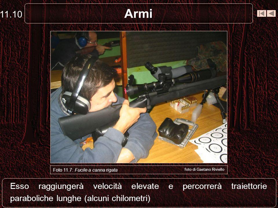 Armi Il proiettile, di peso ridotto e buona configurazione aerodinamica, avrà un accelerazione di maggiore durata 11.9 Foto 11.6: Cartuccia per canna