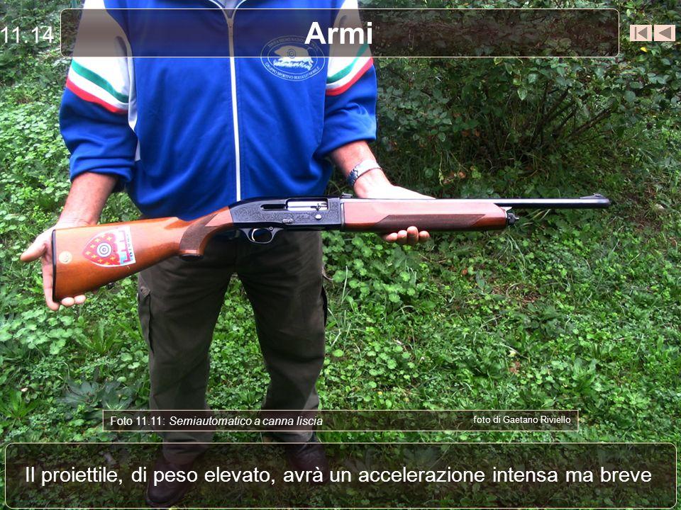 Armi Le cartucce per fucili a canna liscia sono caricate con polveri vivaci Foto 11.10: Cartuccia per canna liscia foto di Gaetano Riviello 11.13