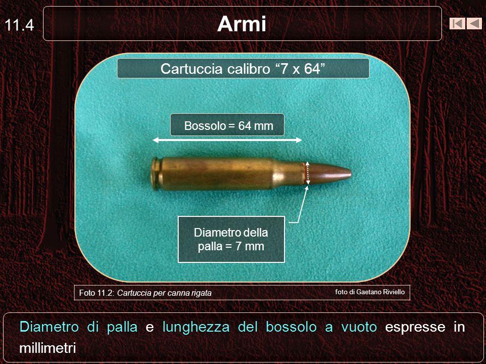 Armi 11.3 Foto 11.2: Cartuccia per canna rigata foto di Gaetano Riviello Bossolo Innesco Palla