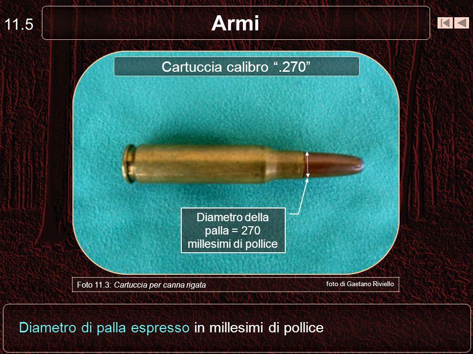 Armi 11.4 Diametro di palla e lunghezza del bossolo a vuoto espresse in millimetri Foto 11.2: Cartuccia per canna rigata foto di Gaetano Riviello Boss