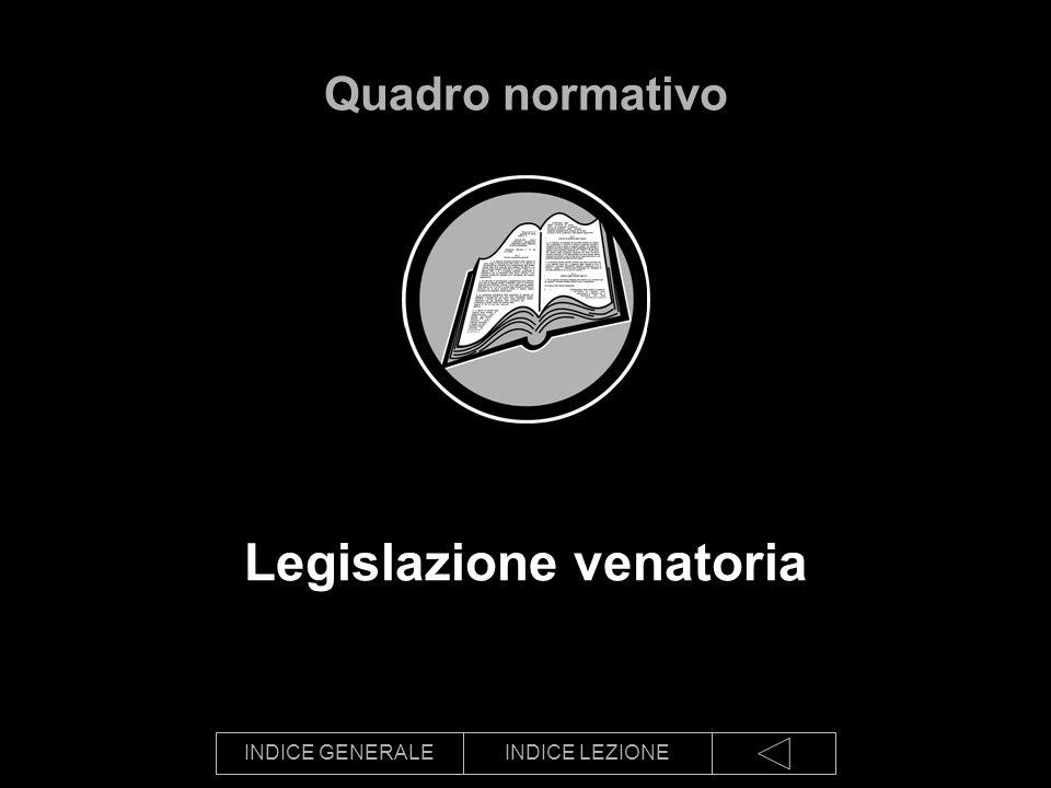 INDICE GENERALEINDICE LEZIONE Legislazione venatoria Quadro normativo