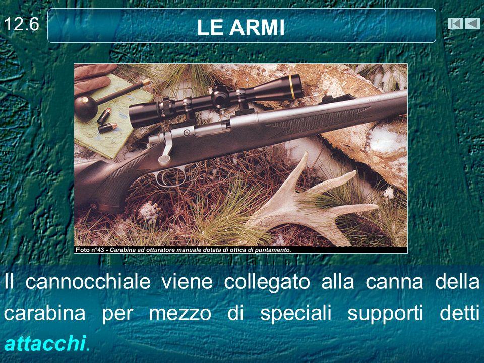Il cannocchiale viene collegato alla canna della carabina per mezzo di speciali supporti detti attacchi. LE ARMI 12.6