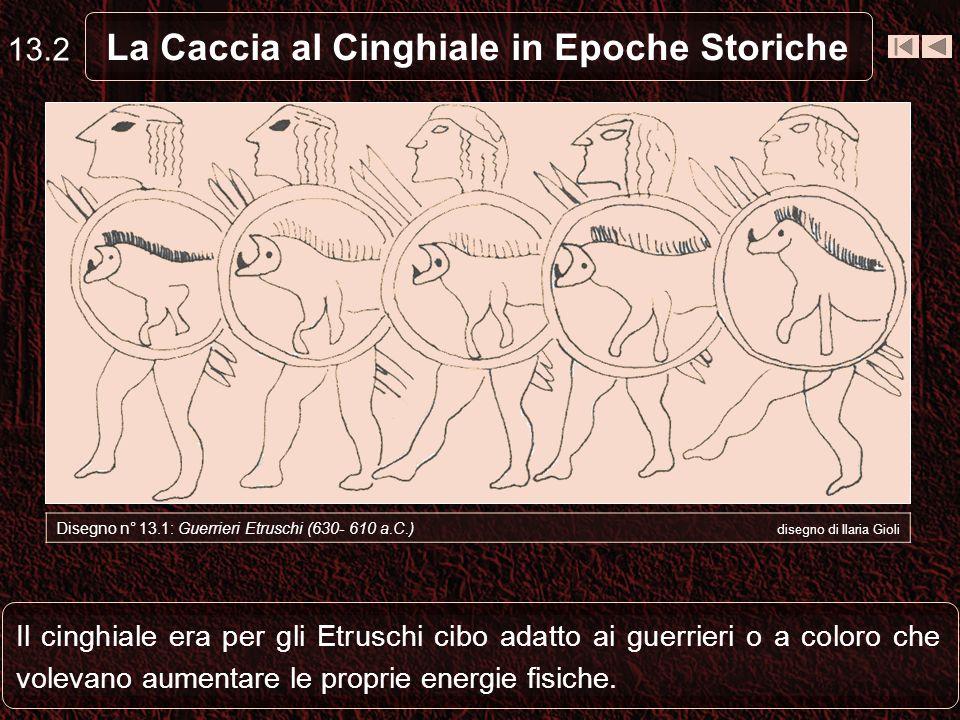 Il cinghiale era per gli Etruschi cibo adatto ai guerrieri o a coloro che volevano aumentare le proprie energie fisiche.