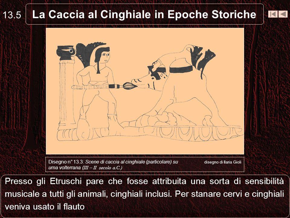 Presso gli Etruschi pare che fosse attribuita una sorta di sensibilità musicale a tutti gli animali, cinghiali inclusi.