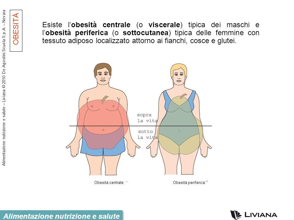 Alimentazione nutrizione e salute – Liviana © 2010 De Agostini Scuola S.p.A. – Novara Alimentazione nutrizione e salute Esiste lobesità centrale (o vi