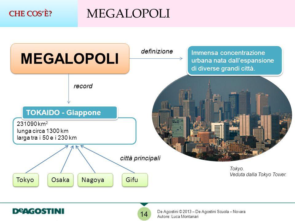 MEGALOPOLI definizione Immensa concentrazione urbana nata dallespansione di diverse grandi città. record 231090 km 2 lunga circa 1300 km larga tra i 5