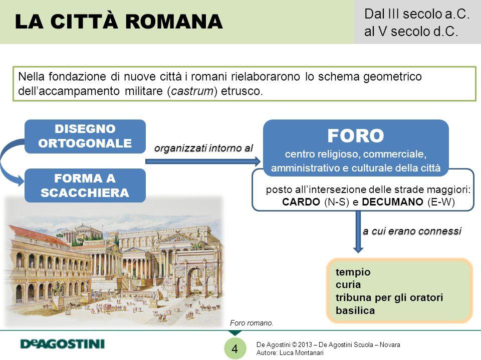 tempio curia tribuna per gli oratori basilica Nella fondazione di nuove città i romani rielaborarono lo schema geometrico dellaccampamento militare (c