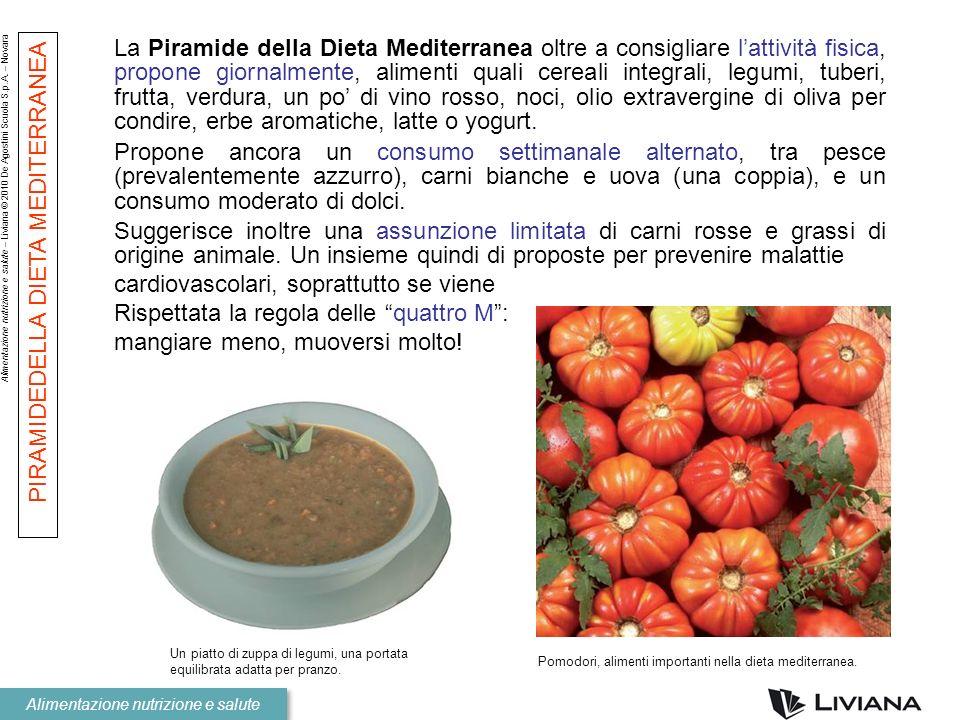 Alimentazione nutrizione e salute – Liviana © 2010 De Agostini Scuola S.p.A. – Novara Alimentazione nutrizione e salute La Piramide della Dieta Medite