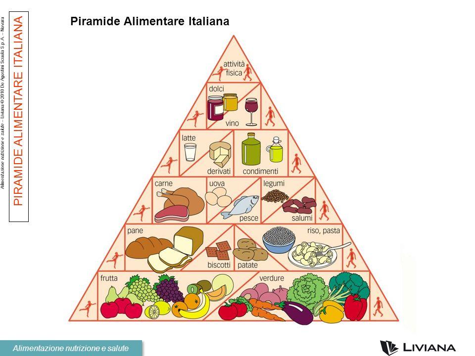 Alimentazione nutrizione e salute – Liviana © 2010 De Agostini Scuola S.p.A. – Novara Alimentazione nutrizione e salute Piramide Alimentare Italiana P