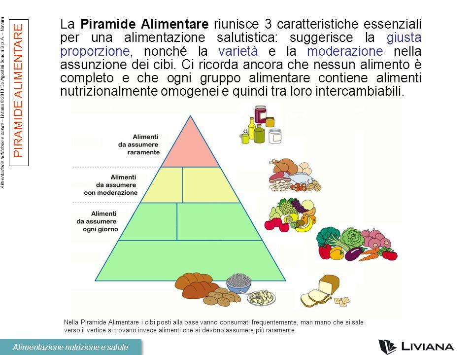 Alimentazione nutrizione e salute – Liviana © 2010 De Agostini Scuola S.p.A. – Novara Alimentazione nutrizione e salute Nella Piramide Alimentare i ci
