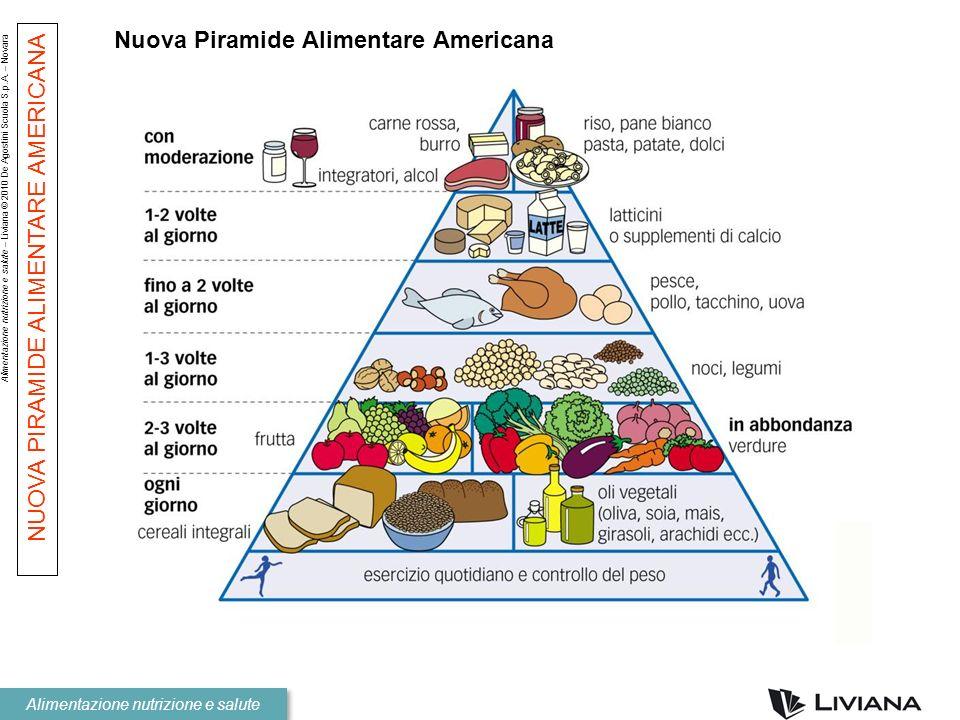 Alimentazione nutrizione e salute – Liviana © 2010 De Agostini Scuola S.p.A. – Novara Alimentazione nutrizione e salute Nuova Piramide Alimentare Amer