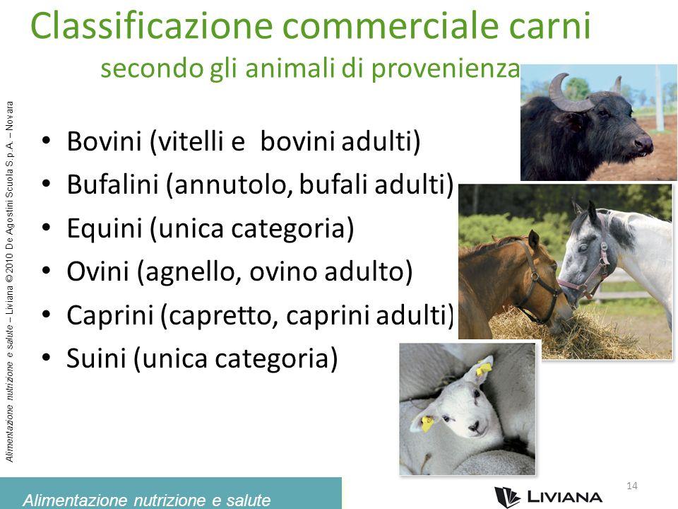 Alimentazione nutrizione e salute Alimentazione nutrizione e salute – Liviana © 2010 De Agostini Scuola S.p.A. – Novara Classificazione commerciale ca