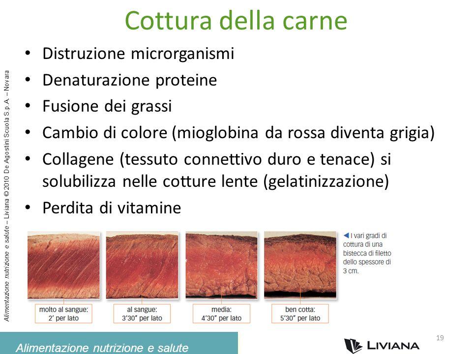 Alimentazione nutrizione e salute Alimentazione nutrizione e salute – Liviana © 2010 De Agostini Scuola S.p.A. – Novara Cottura della carne Distruzion