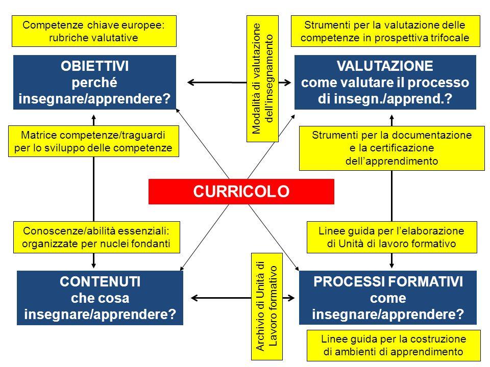 CURRICOLO PROCESSI FORMATIVI come insegnare/apprendere.