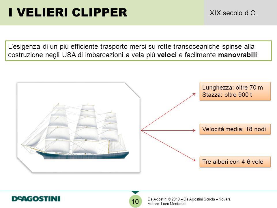 Lesigenza di un più efficiente trasporto merci su rotte transoceaniche spinse alla costruzione negli USA di imbarcazioni a vela più veloci e facilment