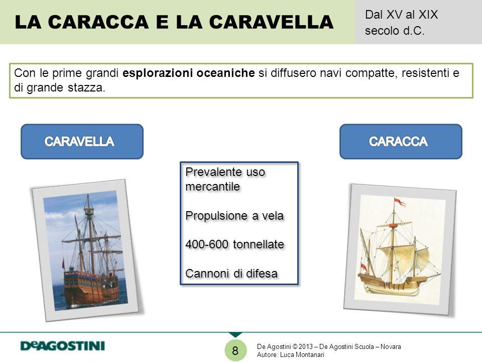 Prevalente uso mercantile Propulsione a vela 400-600 tonnellate Cannoni di difesa Prevalente uso mercantile Propulsione a vela 400-600 tonnellate Cann