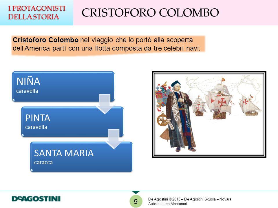Cristoforo Colombo Cristoforo Colombo nel viaggio che lo portò alla scoperta dellAmerica partì con una flotta composta da tre celebri navi: NIÑA carav