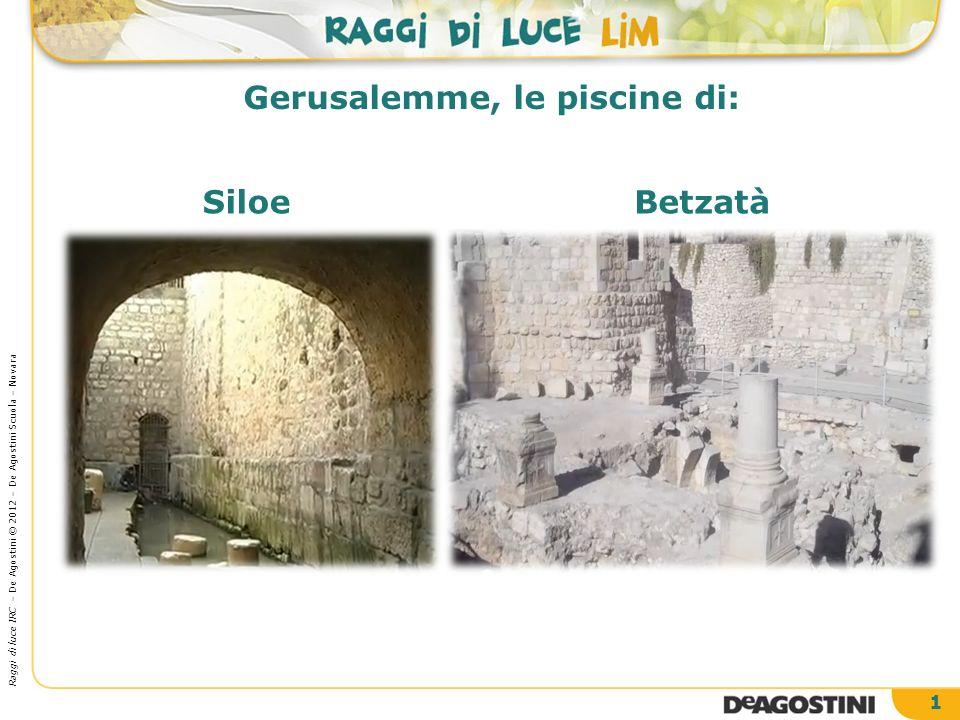 2 Mappa di Gerusalemme Le due piscine, protagoniste dei miracoli di Gesù