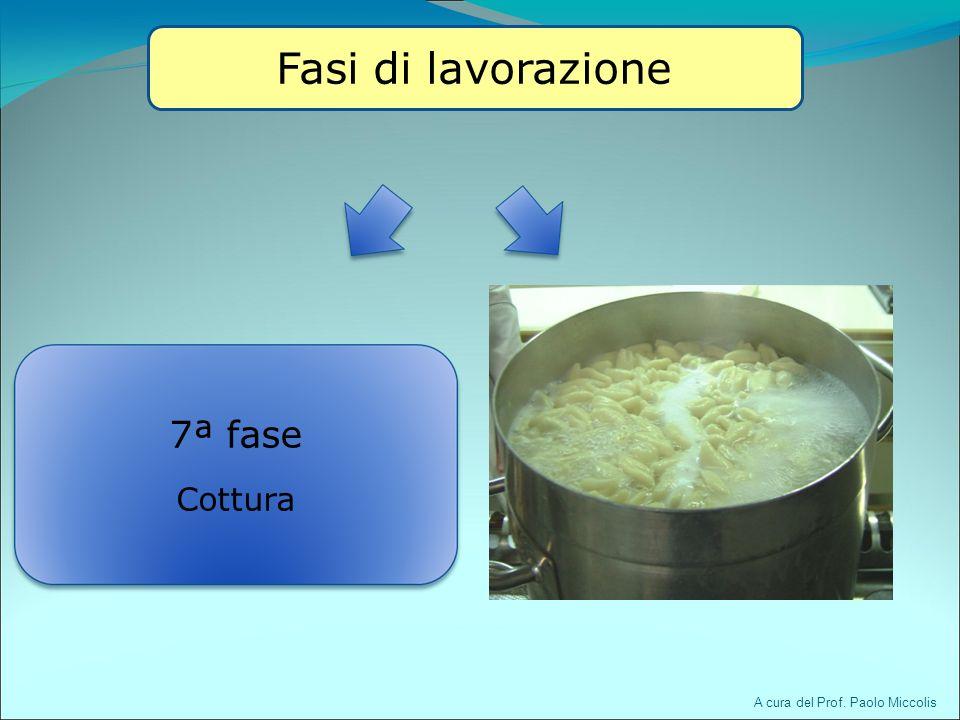 7ª fase Cottura A cura del Prof. Paolo Miccolis Fasi di lavorazione
