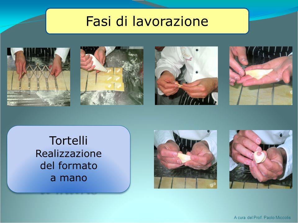 Tortelli Realizzazione del formato a mano Fasi di lavorazione A cura del Prof. Paolo Miccolis