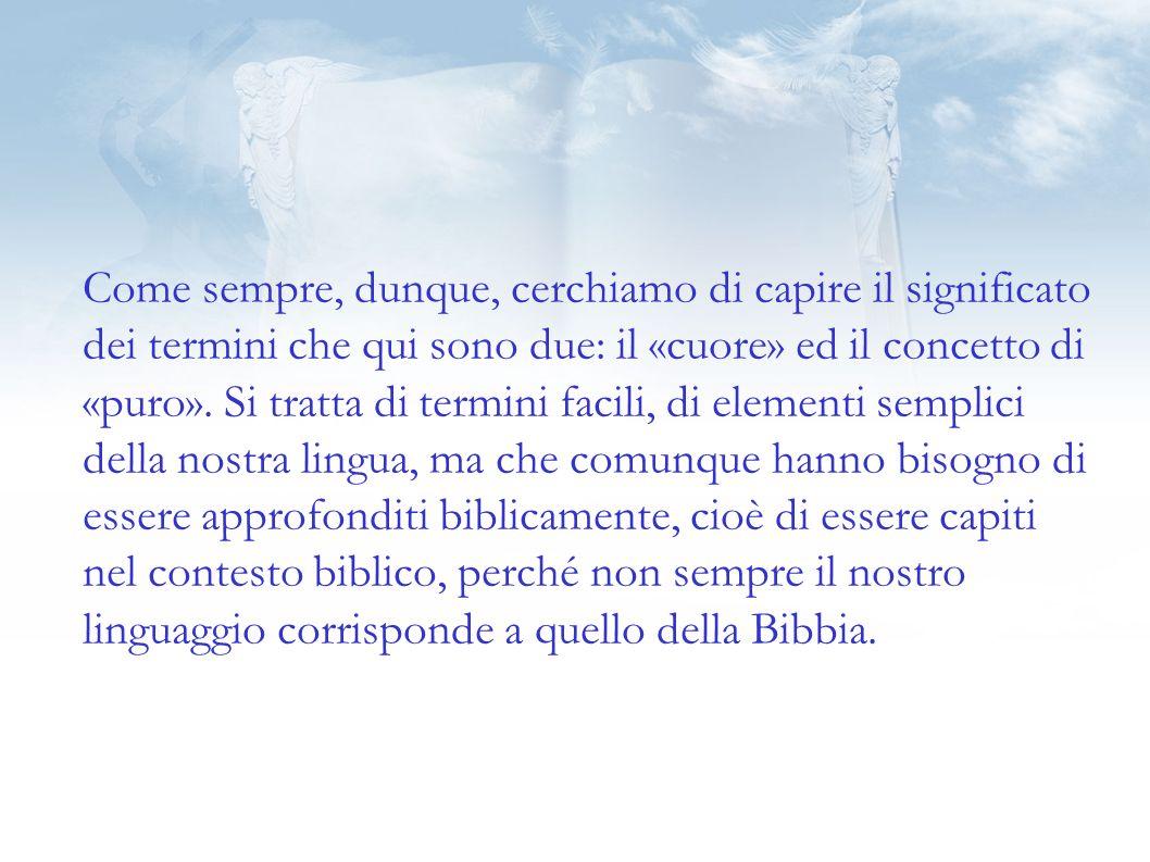 Anche nel caso di questa beatitudine dobbiamo ragionare così: «vedranno Dio» non è unazione degli uomini, ma unazione di Dio.