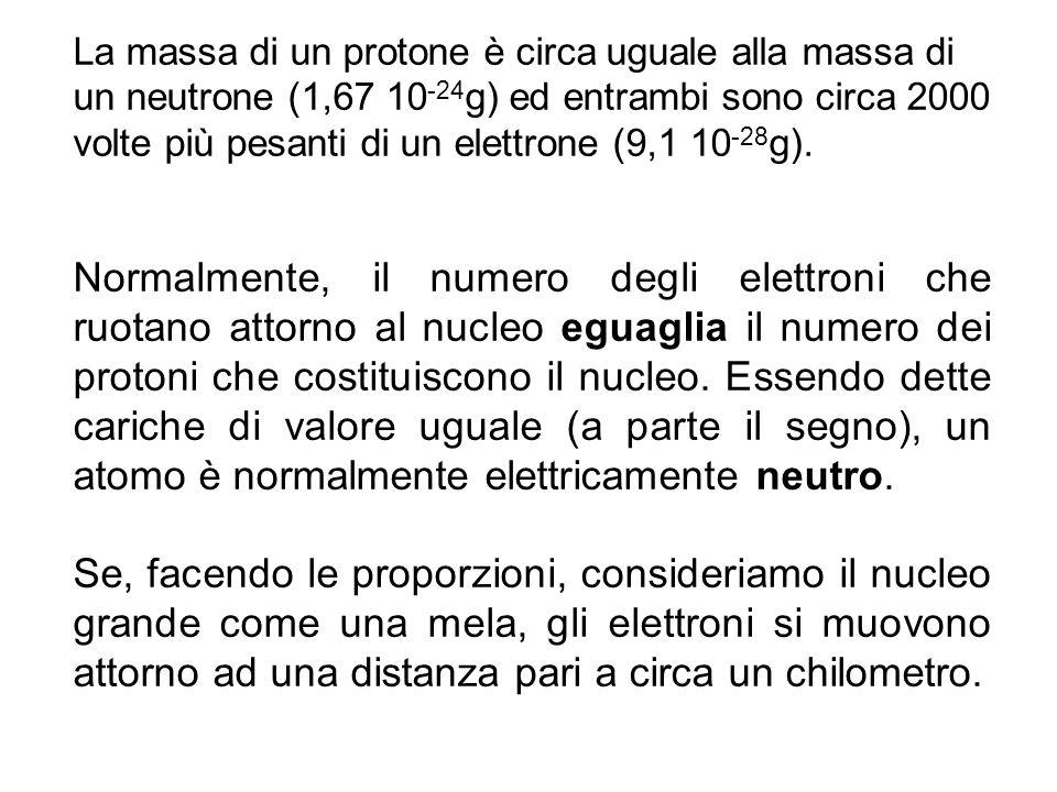 Numero atomico, numero di massa e isotopi Il numero di protoni presenti nel nucleo di un atomo si chiama numero atomico (Z).