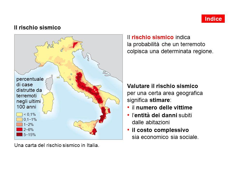 Il rischio sismico Il rischio sismico indica la probabilità che un terremoto colpisca una determinata regione.