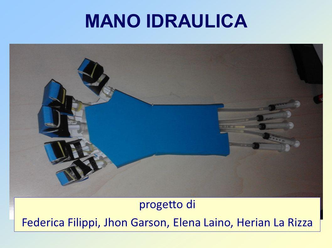 MANO IDRAULICA progetto di Federica Filippi, Jhon Garson, Elena Laino, Herian La Rizza