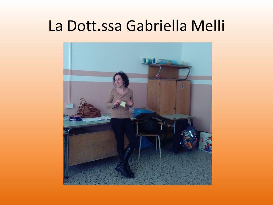 La Dott.ssa Gabriella Melli