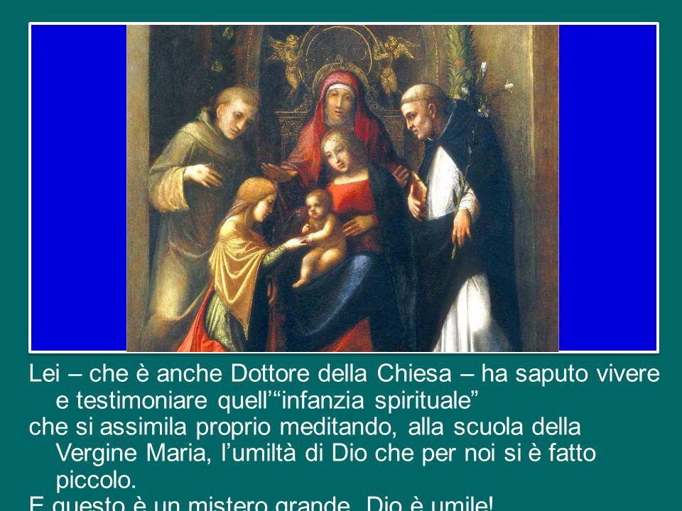Penso, in particolare a santa Teresa di Lisieux, che come monaca carmelitana ha portato il nome di Teresa di Gesù Bambino e del Volto Santo.
