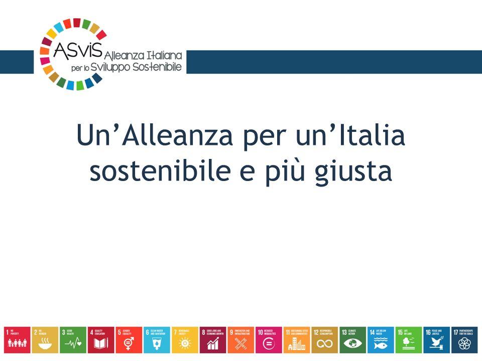 Un'Alleanza per un'Italia sostenibile e più giusta
