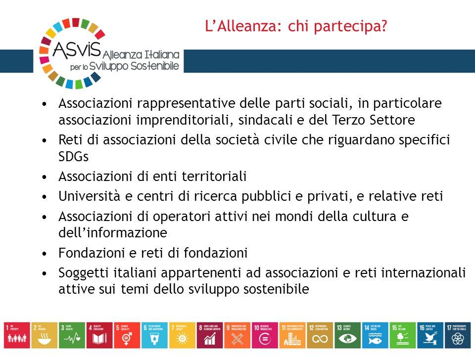 Associazioni rappresentative delle parti sociali, in particolare associazioni imprenditoriali, sindacali e del Terzo Settore Reti di associazioni dell