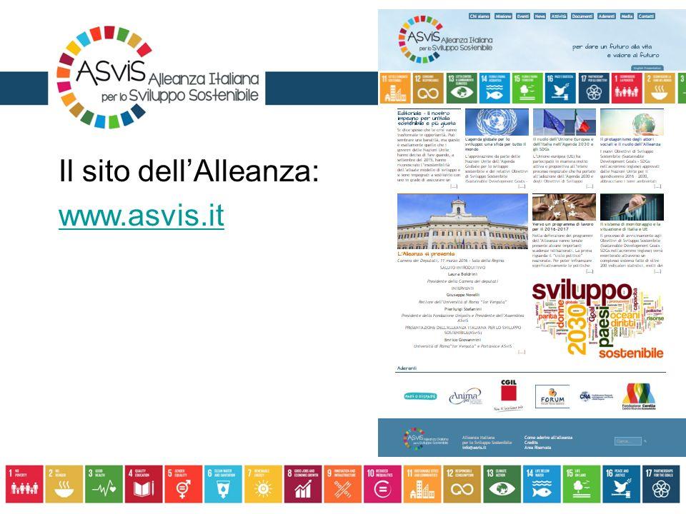 Il sito dell'Alleanza: www.asvis.it